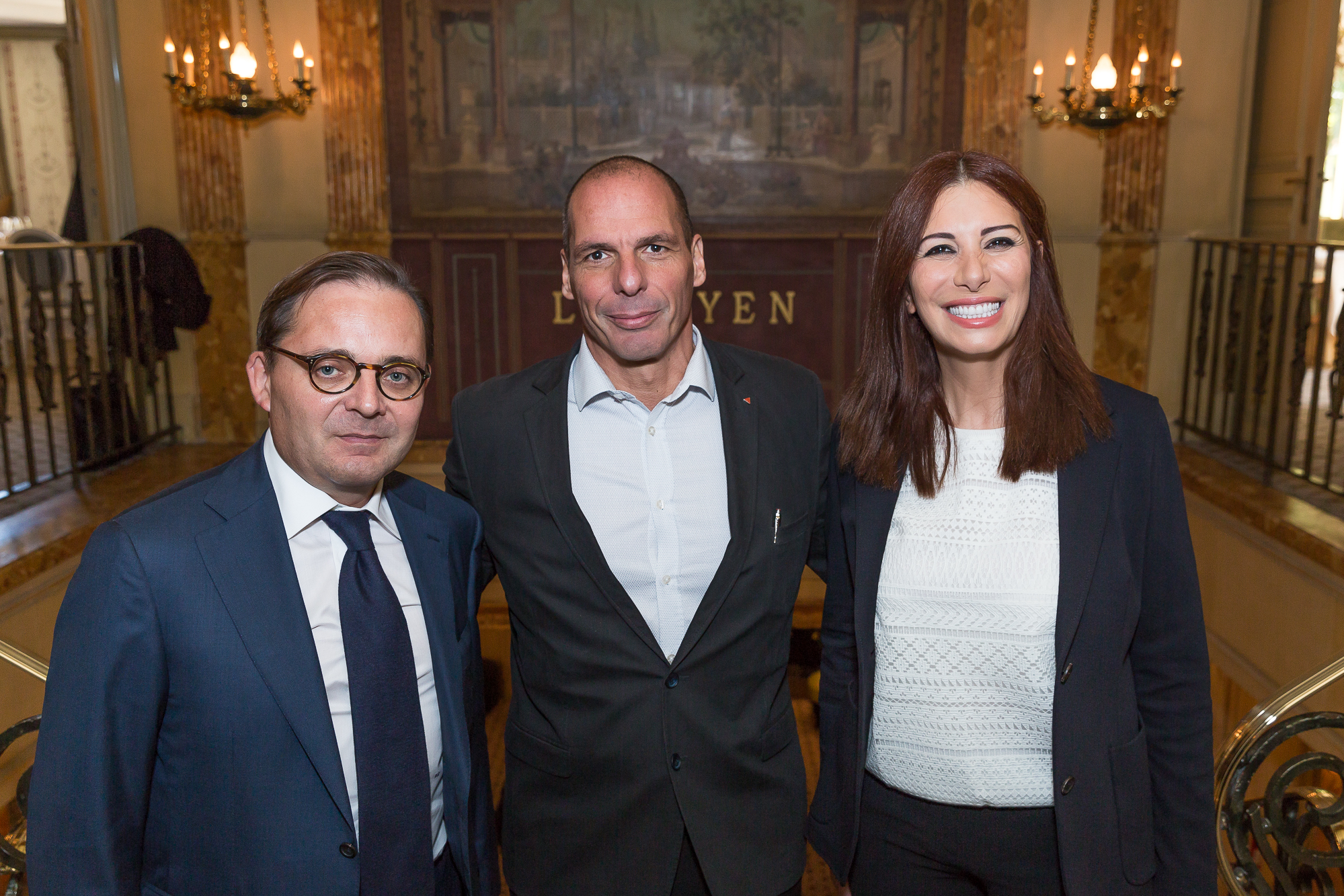 5-Randa-Kassis-with-Yanis-Varoufakis-former-Greek-Finance-Minister-and-Fabien-Baussart-President-of-CPFA