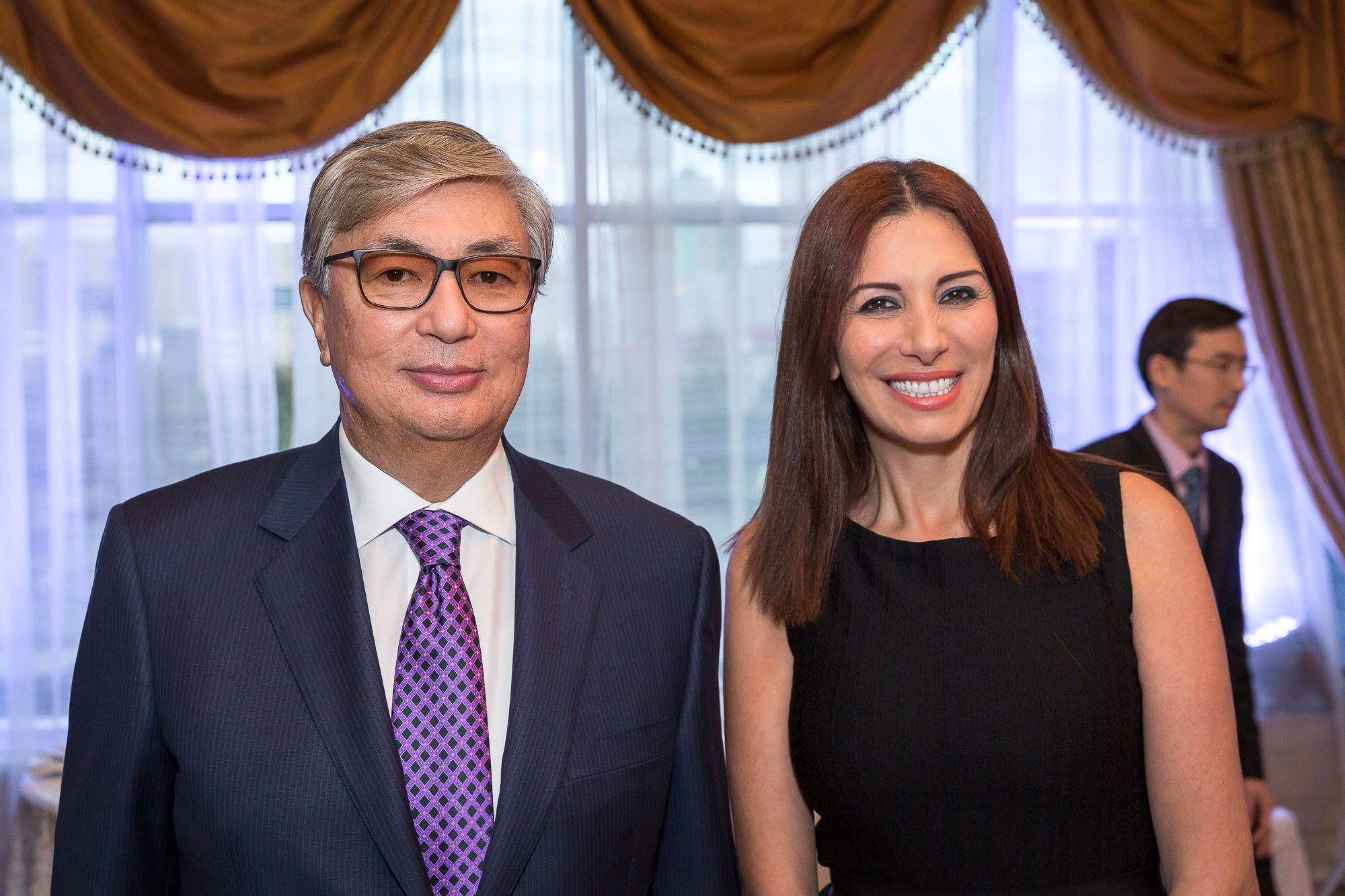 1-Randa-Kassis-with-the-Chairman-of-the-Senate-of-Kazakhstan-Kassym-Jomart-Tokayev.